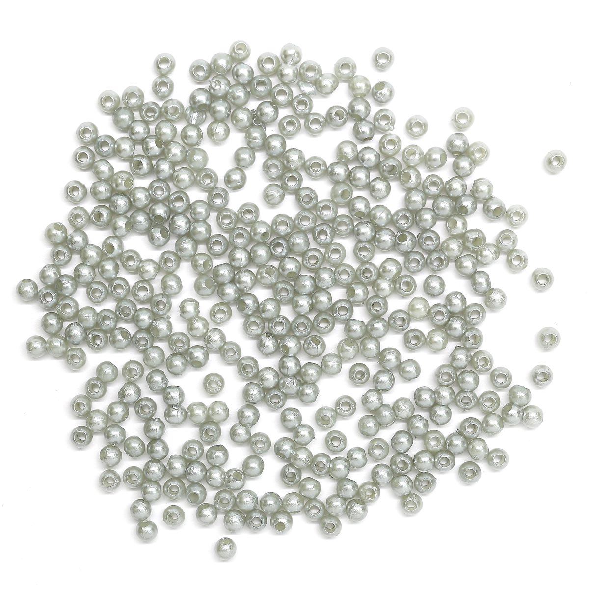Бусины круглые, пластик, 3 мм, упак./20 гр., 'Астра'