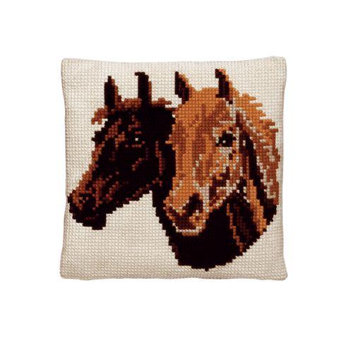 003.099 Подушка Pako 'Две лошади', 40х40 см