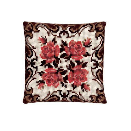 003.110 Подушка Pako 'Орнамент с розами', 40х40 см