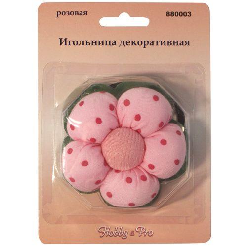 880003 Игольница декоративная, розовая