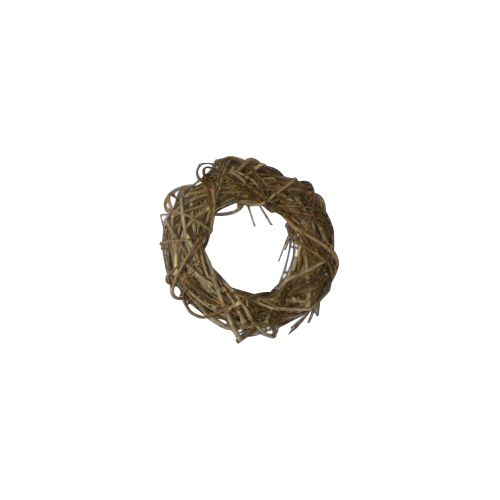 ZG14009D Венок декоративный плетеный, 18 см, цв. коричневый