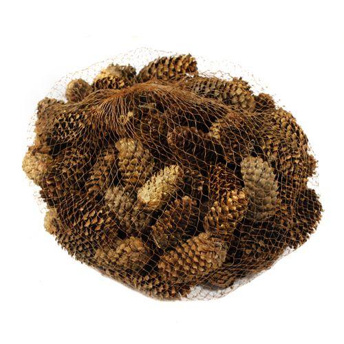 YW060 Декоративные элементы натуральные. Шишки еловые, 4-6 см, 250гр