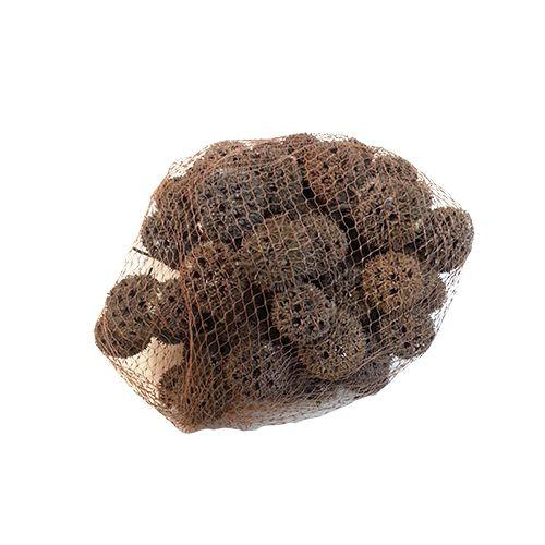 YW063 Декоративные элементы натуральные. Шишки круглые, 2-3 см, 250гр