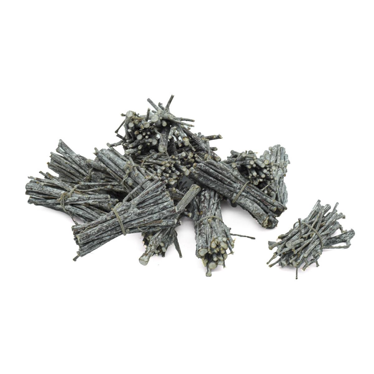 YW141 Ветки декоративные в вязанках побеленные, длина 7см