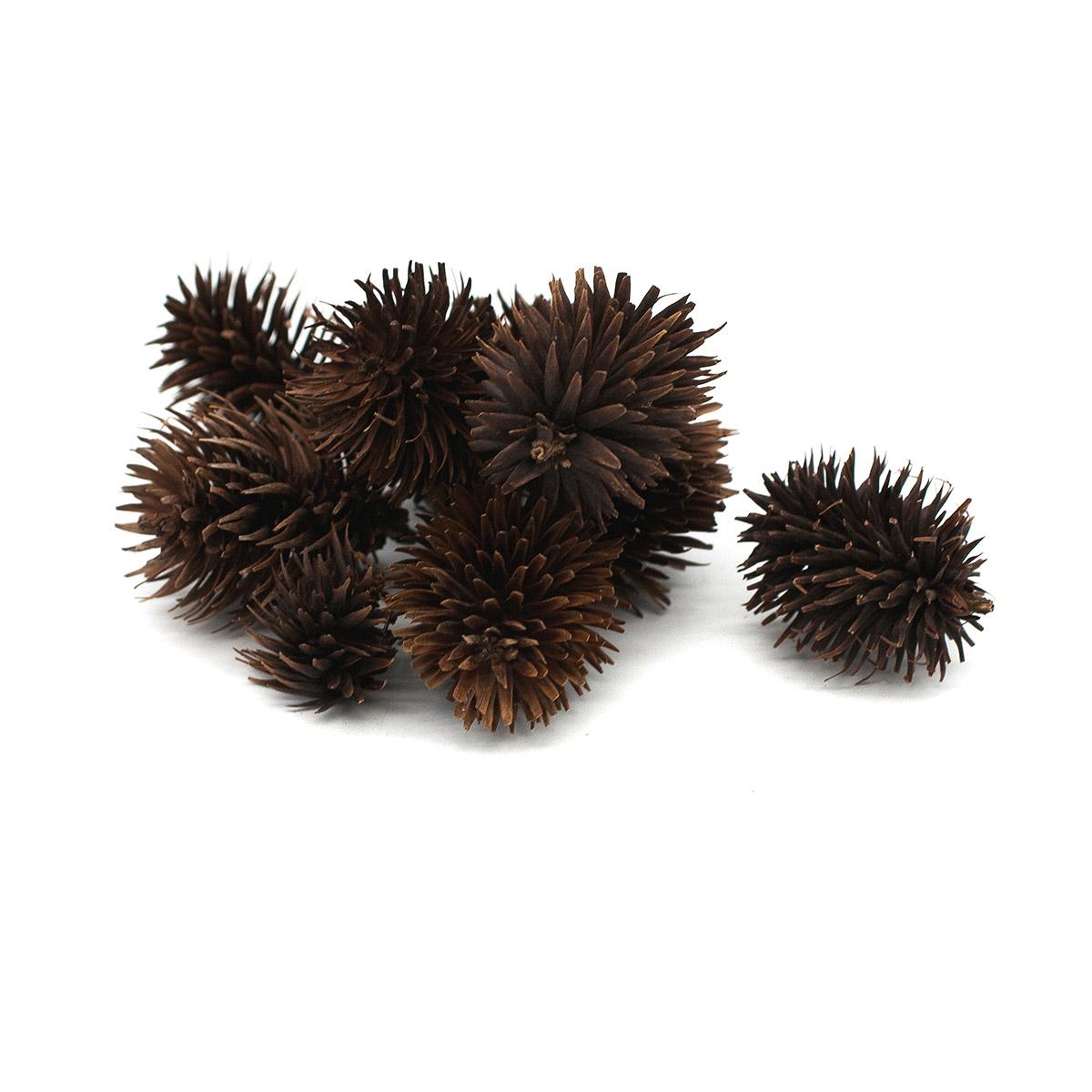 YW050 Декоративные элементы натуральные. Шишечки-соцветия, 2-4 см, 20гр