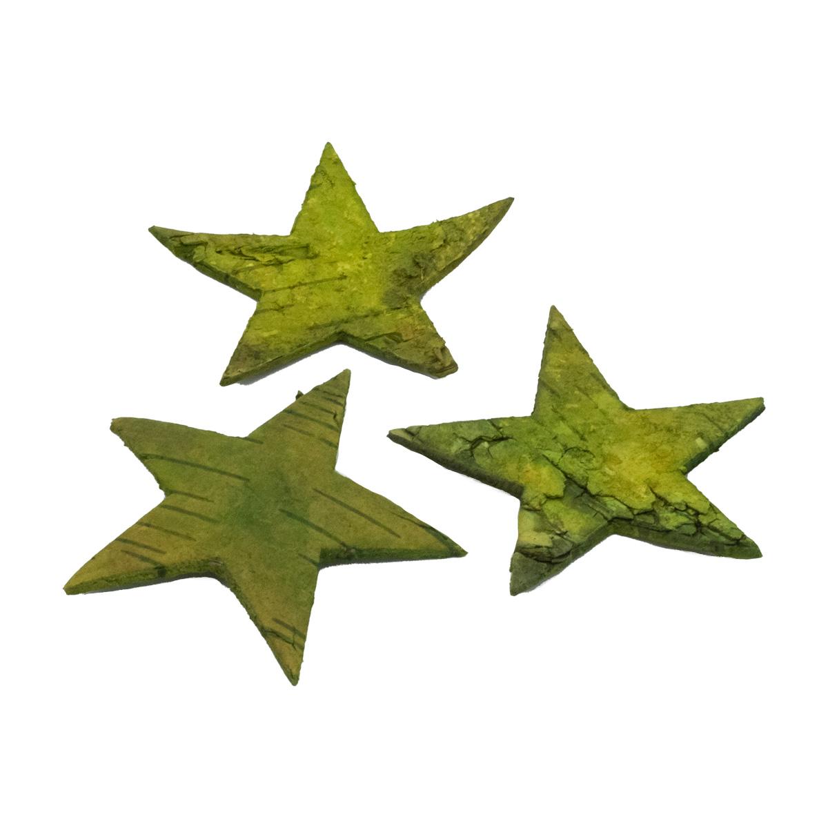 YW186 Декоративные элементы из коры дерева 'Звезда', 7см, 12шт/уп