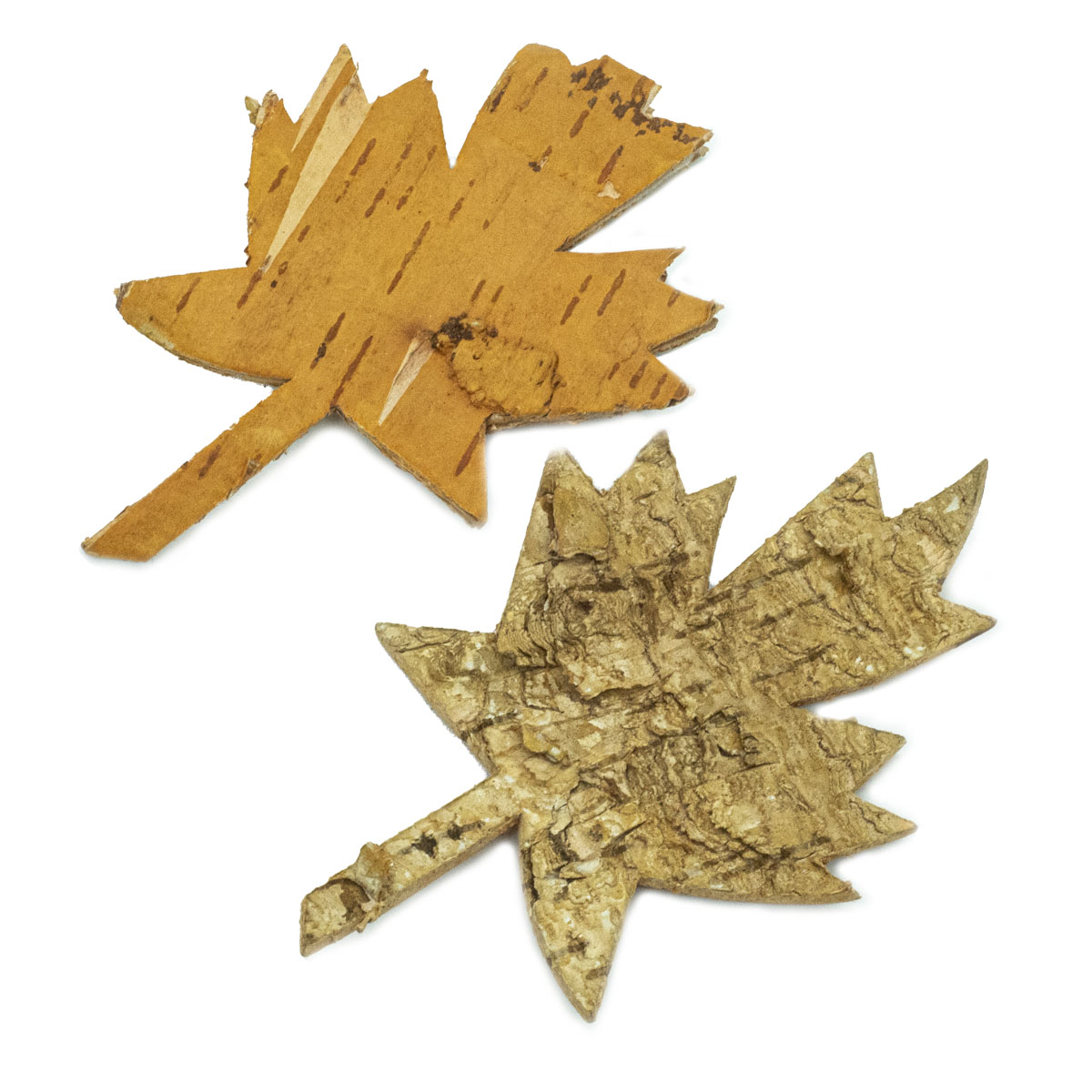 YW257 Декоративные элементы из коры дерева 'Кленовый лист', 11*7см, 6шт/уп