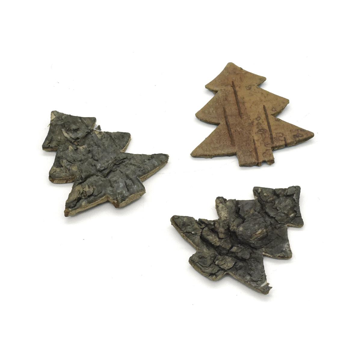YW294 Декоративные элементы из коры дерева 'Елочка',