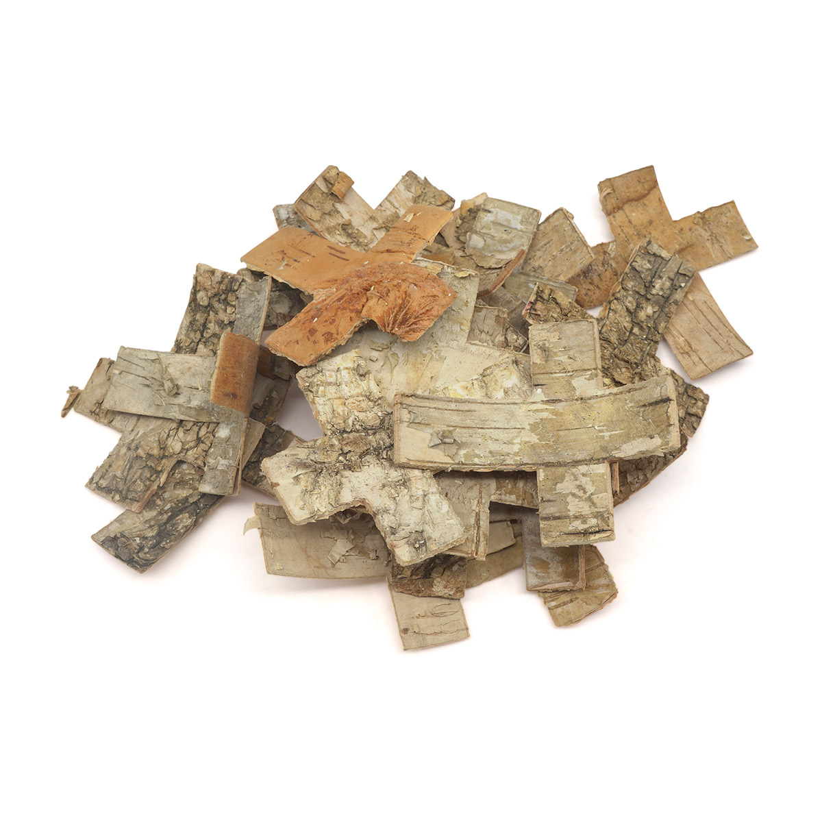 YW293 Декоративные элементы из коры дерева 'Крест', 6,5*5см , 25шт/уп