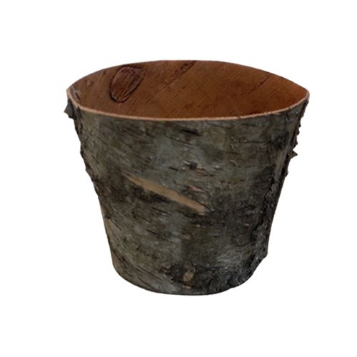 YW284A Горшочек из коры дерева, 15*12*11см