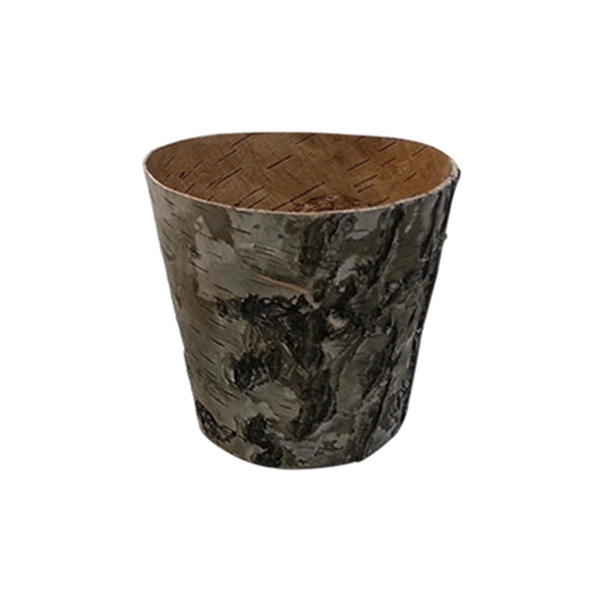 YW284B Горшочек из коры дерева, 12*12*8см