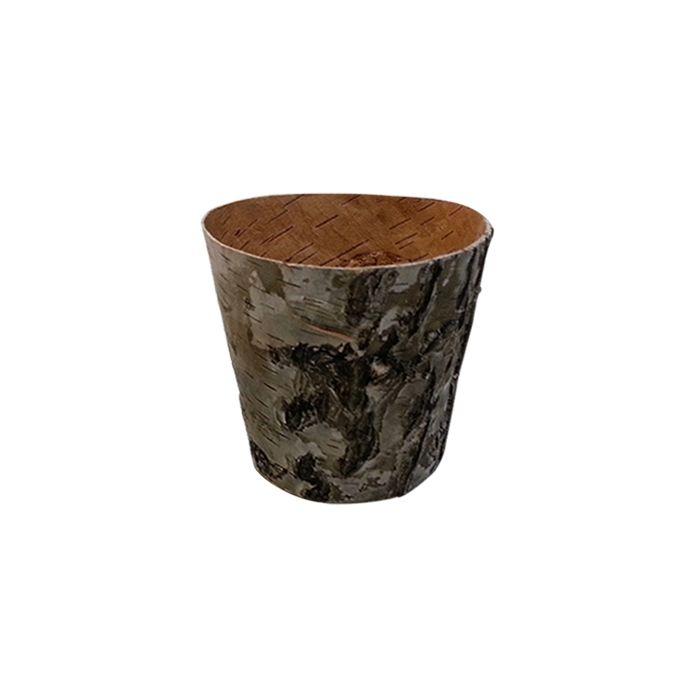 YW284C Горшочек из коры дерева, 10.5*10.5*7см
