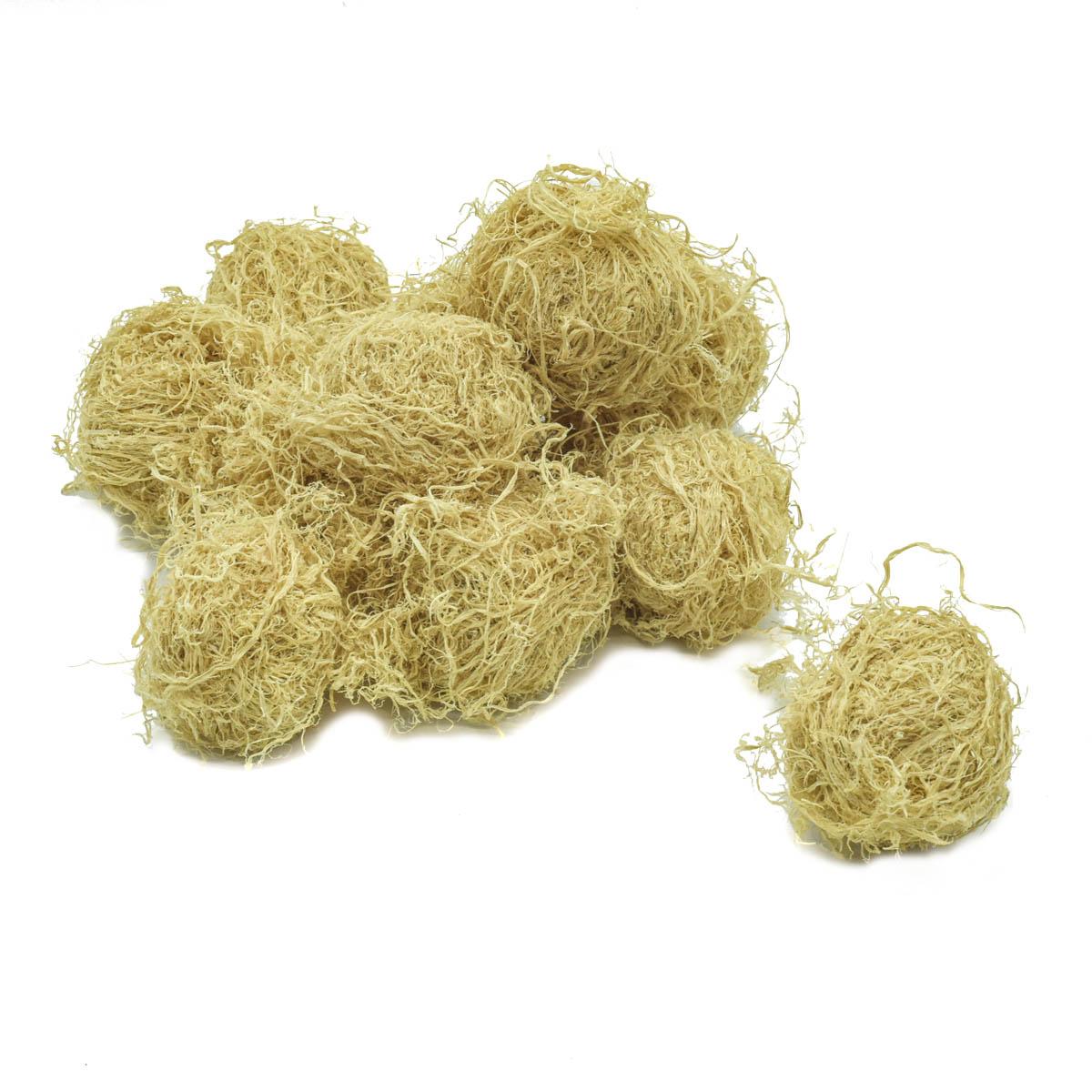 YW222 Декоративные элементы натуральные. Шарики из бамбука, 6 см, 10 шт/уп