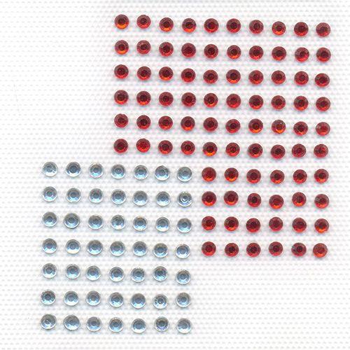ADS030 Аппликация из страз орнамент 'Два квадрата' 7*7,5см Hobby&Pro