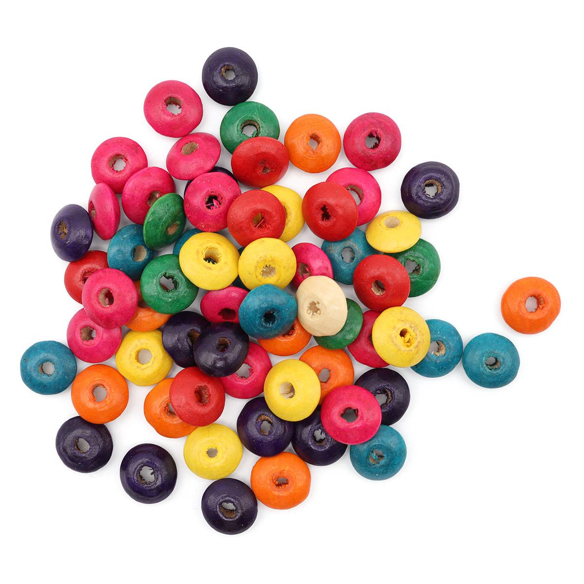 WDB0459 Деревянные бусины, разноцветные, 6*14 мм, упак./60 шт., 'Астра'
