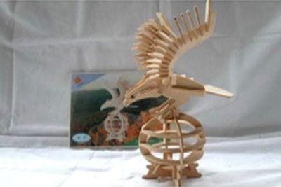 Деревянный пазл 3D, E008-3
