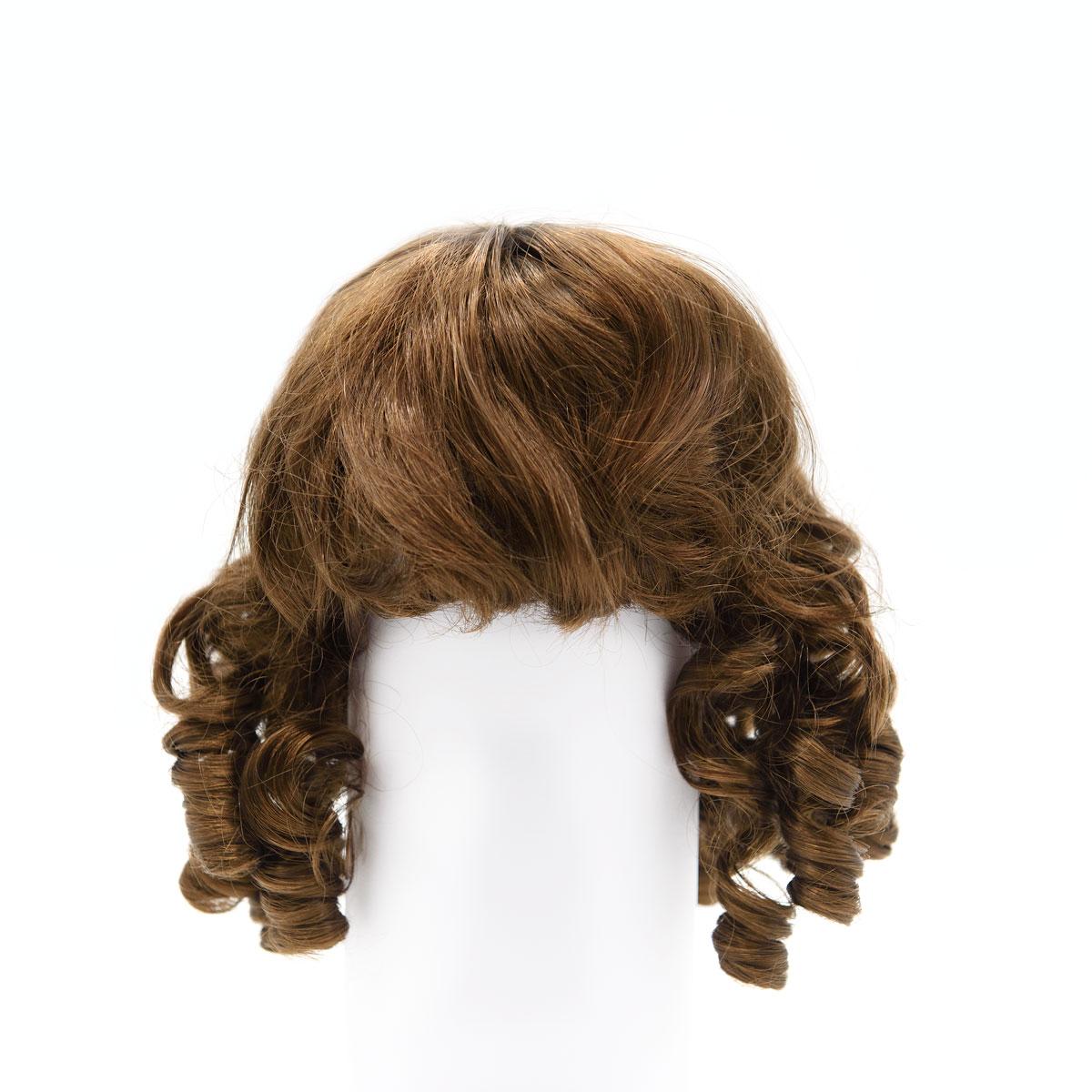 Волосы для кукол QS-10 (каштановые) фото