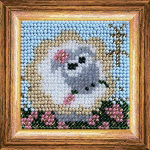 211ЗД.Набор для вышивания бисером 'Веселая овечка' фото