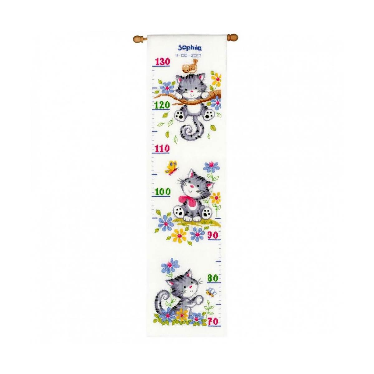0021581-PN Набор для вышивания Vervaco 'Игривые котята' 18x70см