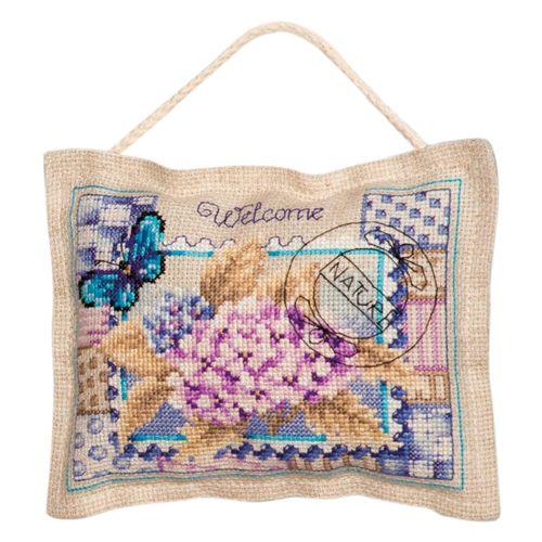 0145108-PN (2320) Декоративная подушка 18х14см - комплект для вышивания крестиком Vervaco