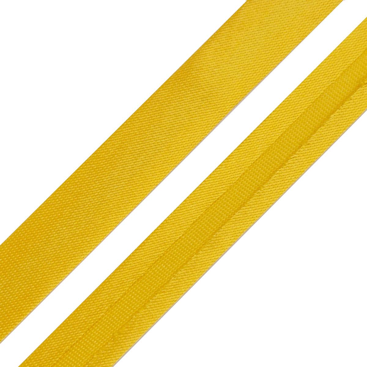 Косая бейка 1,5 см*5м (6037 т.желтый) фото