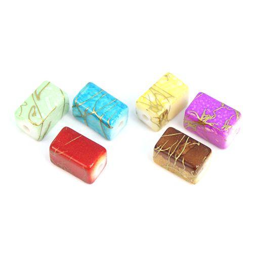 2298 Бусины пластиковые, разноцветные, 11*6 мм, упак./54 шт., 'Астра'