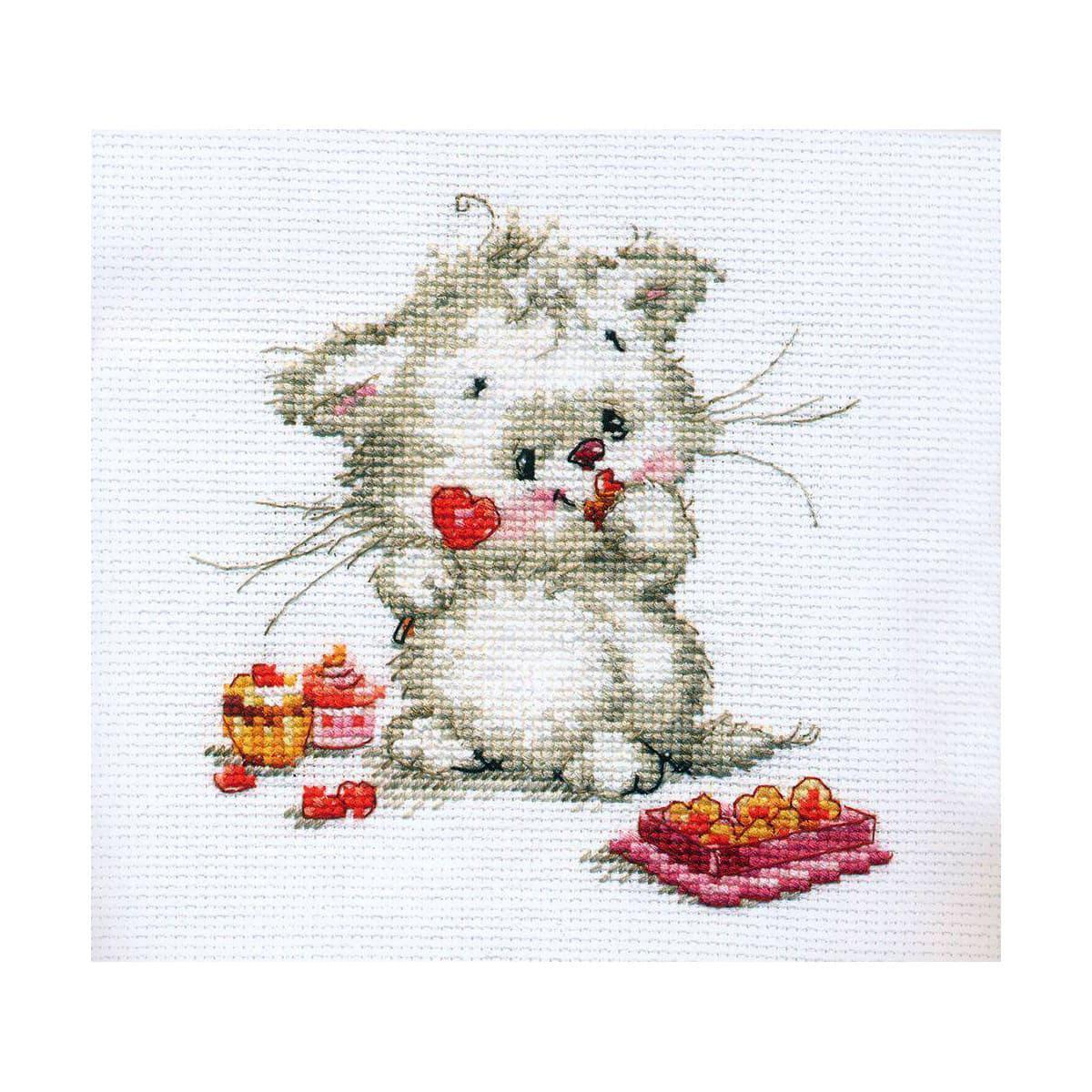 0-123 Набор для вышивания 'Алиса' 'Сладкая конфетка', 13*13 см