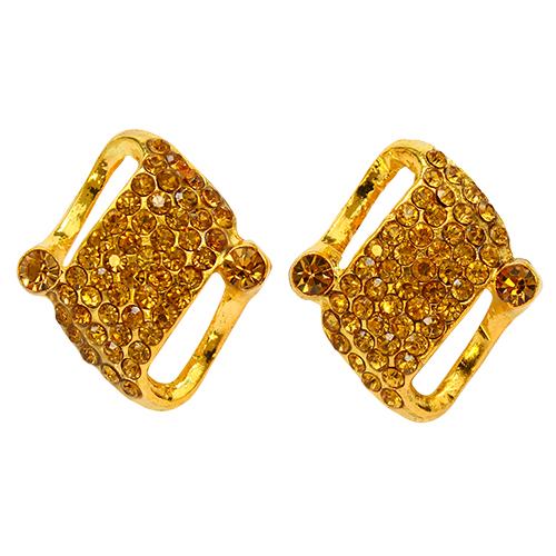 LS11-1 Пряжка со стразами, русское золото