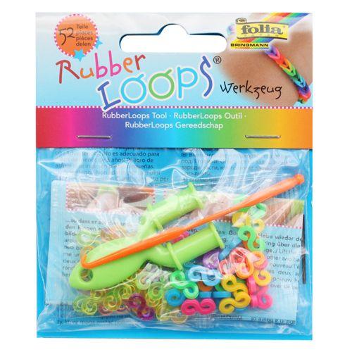 Инструменты для плетения браслетов Rubber Loops (52 застежки, крючок и инструмент) (33809) Folia
