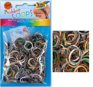 Резинки для браслетов 'Камуфляж' Rubber Loops (500 шт., 25 застежек, 1 крючок) (339589) Folia