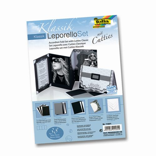 11201 Набор 'Лепорелло' для создания складной открытки 'Классика', Folia