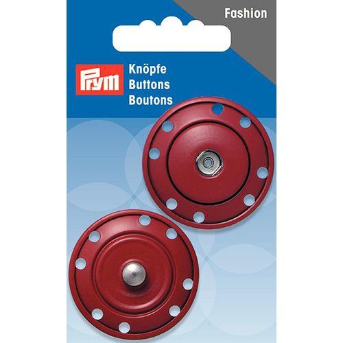 341833 Кнопки пришивные, темно-красный, 35 мм, Prym