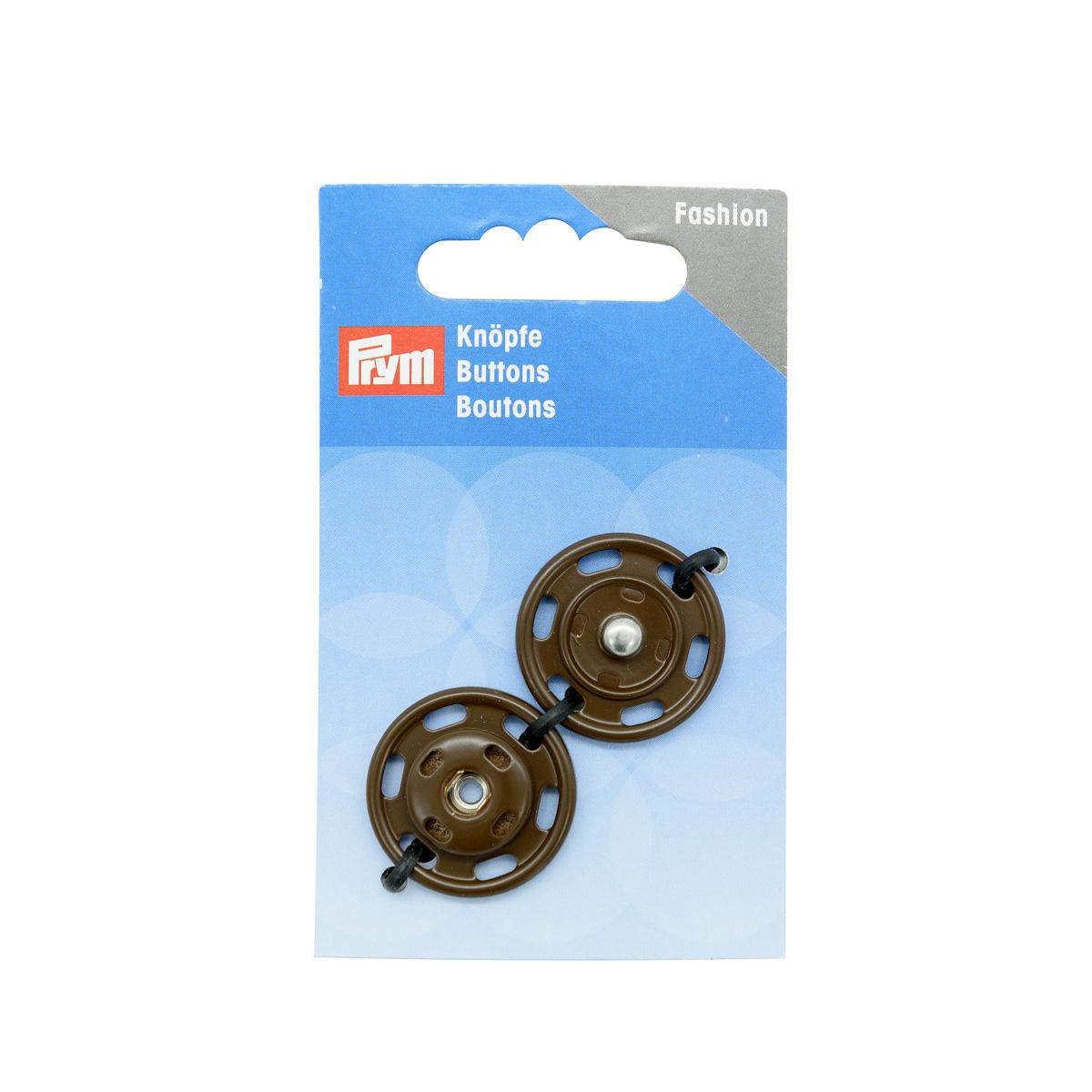 341840 Кнопки пришивные, коричневый, 25 мм, Prym