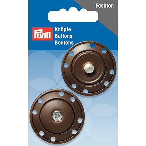 341841 Кнопки пришивные, коричневый, 35 мм, Prym