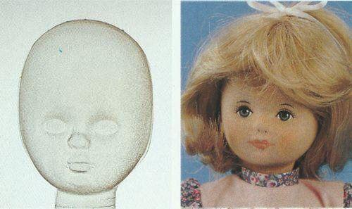 00401 Маска для лица куклы пластиковая Nina высотой 30 см Glorex