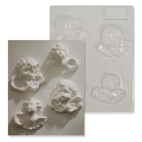62702296 Форма пластиковая Херувимы (4 вида) 80х80мм Glorex