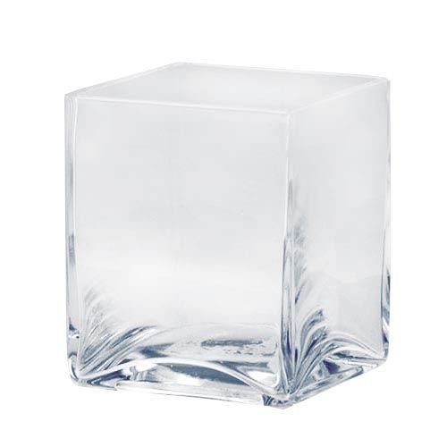 68604602 Подсвечник стеклянный квадратный, диам. 5см Glorex