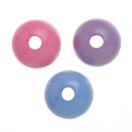 61651059 Бусины деревянные, микс розовый/лиловый/голубой, 4 мм, упак./155 шт., Glorex