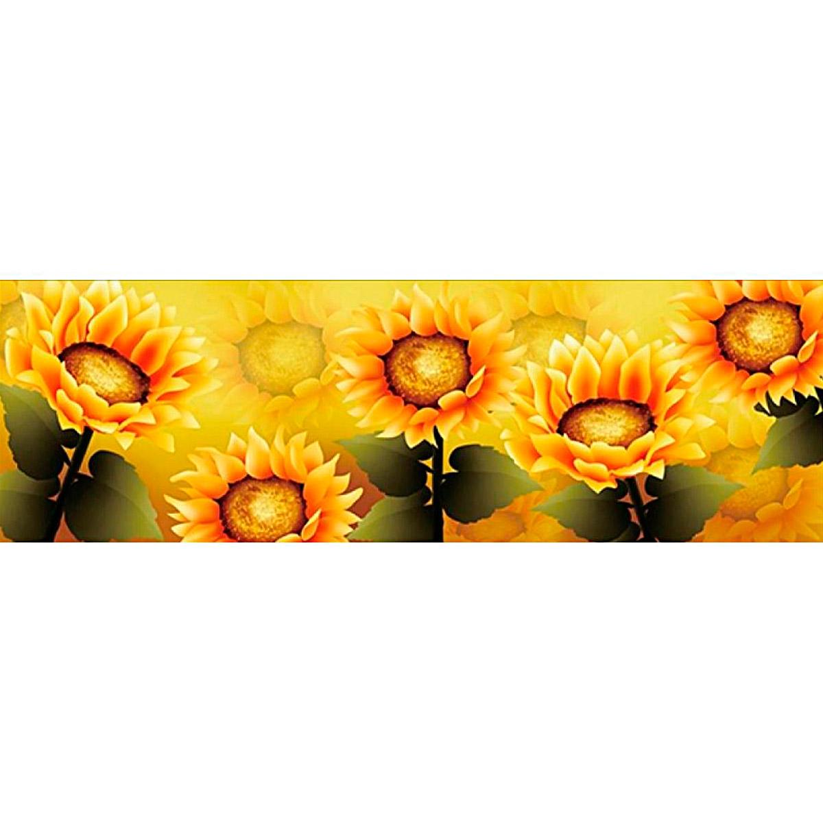 51286 Картина со стразами 5D 'Подсолнухи', 135x54см