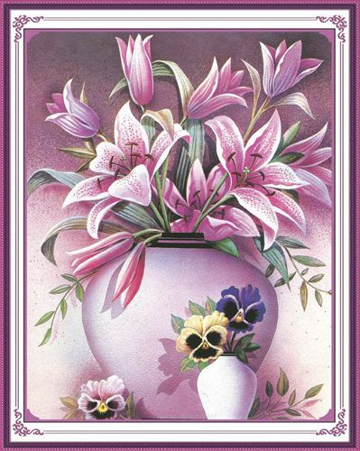 51310 Картина со стразами 5D 'Лилии', 55x66см