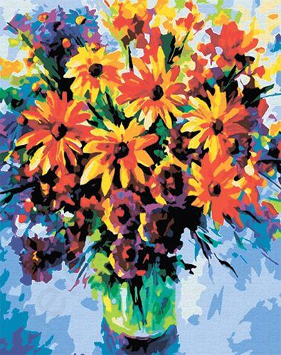 GX6375 Набор для раскрашивания по номерам 'Букет цветов', 40x50см