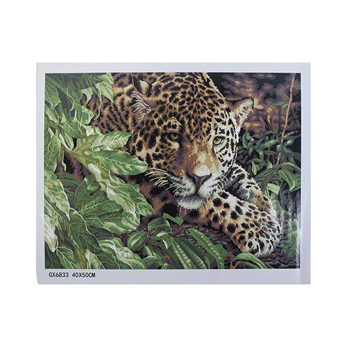 GX6833 Набор для раскрашивания по номерам 'Леопард', 40x50см