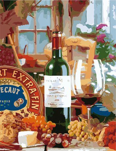 GX6525 Набор для раскрашивания по номерам 'Вино и виноград', 40x50см