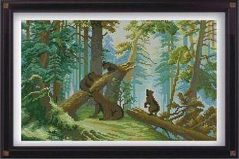 7429 Мозаика Cristal 'Утро в сосновом лесу', 52*35 см
