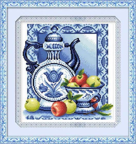 1186 Мозаика Cristal 'Гжель', 37*40 см