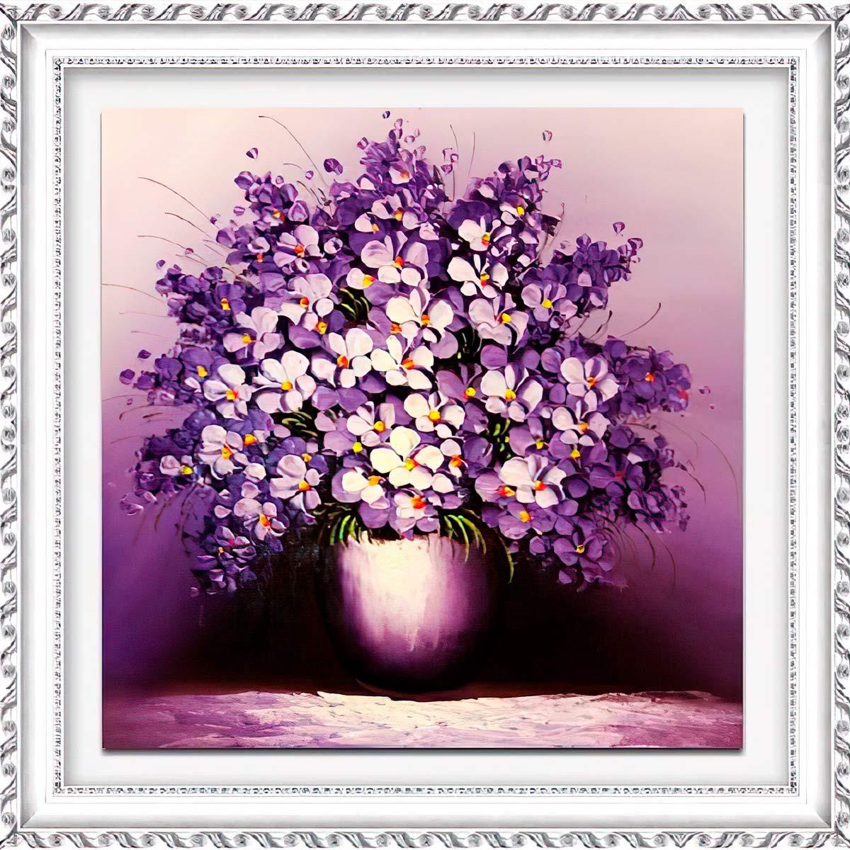 1621 Мозаика Cristal 'Сиреневый букет', 40*40 см