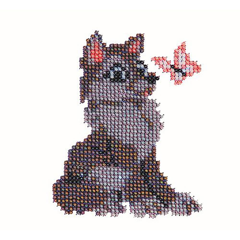 Б-0019 Набор для вышивания бисером 'Бисеринка' 'Волчонок', 9*11 см