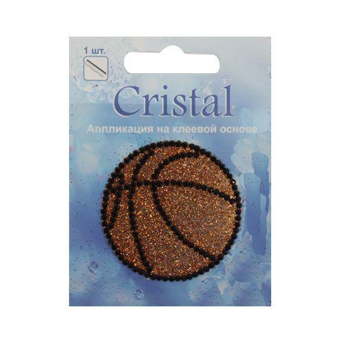 18201 Аппликация на клеевой основе,'Мяч',Cristal
