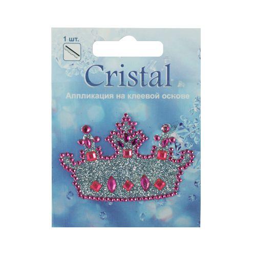18204 Аппликация на клеевой основе,'Корона',Cristal