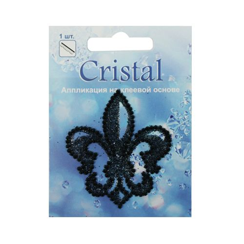 18205 Аппликация на клеевой основе,'Лилия',Cristal